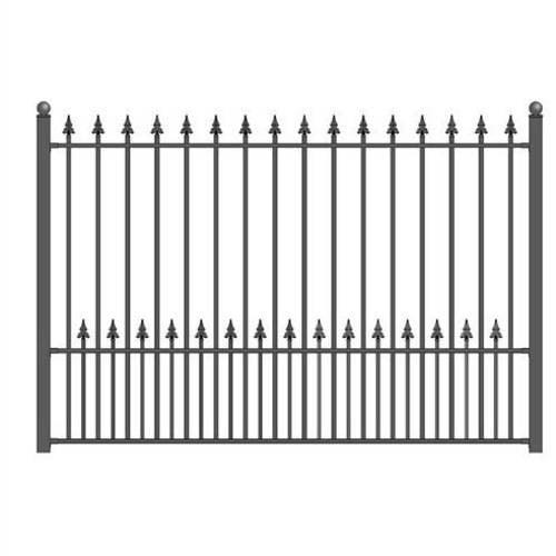Aleko DIY Steel Iron Wrought High Quality Ornamental Fence Munich Style 5.5 x 5 Ft by ALEKO