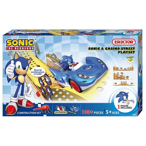 Meccano Sonic The Hedgehog Sonic & Casino Street Playset ...