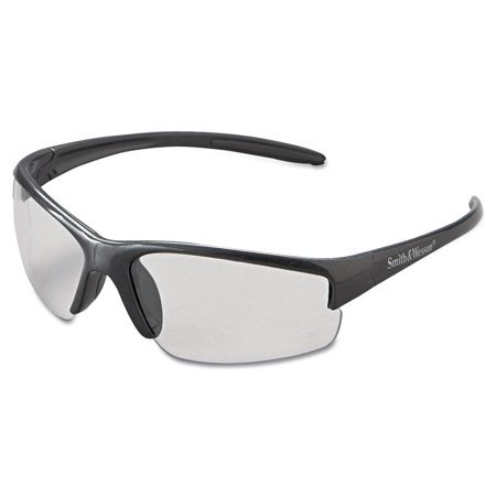Smith & Wesson Equalizer Safety Glasses, Gun Metal Frame, Clear Anti-Fog