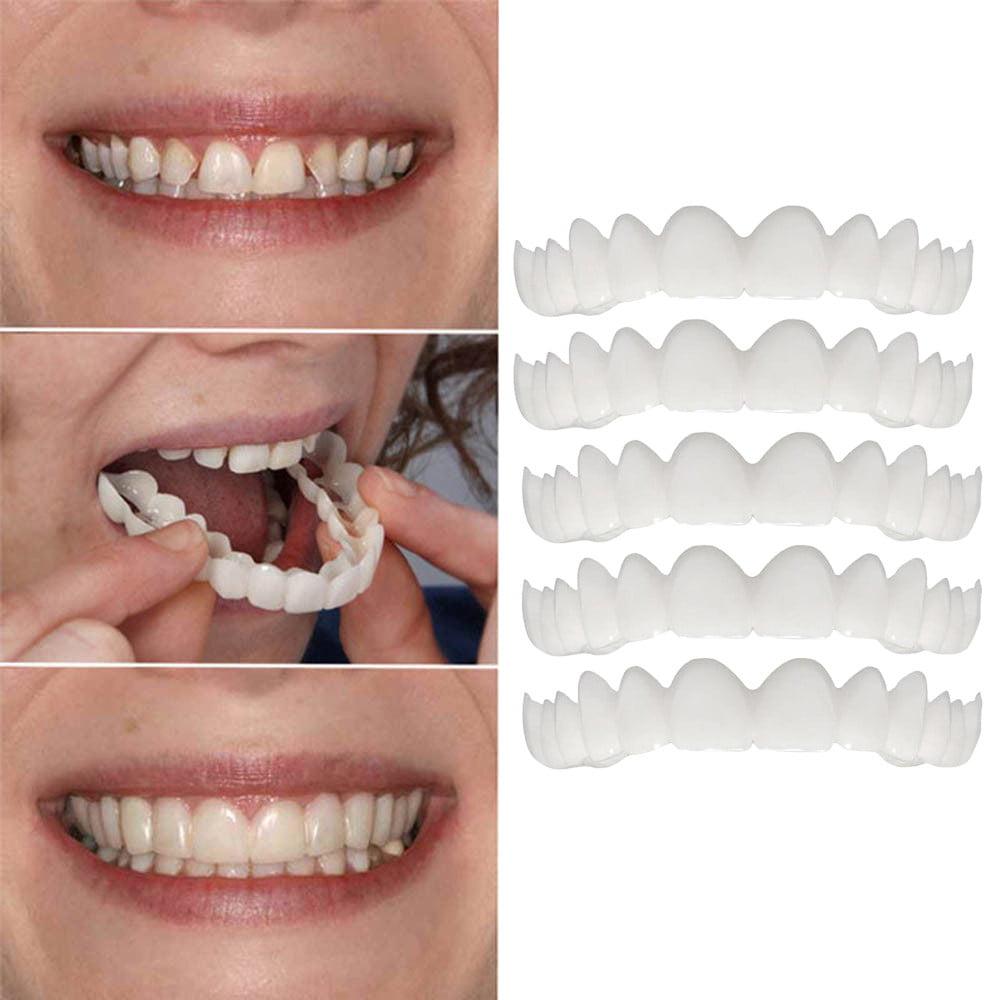 Mosunx 5pc Temporary Smile Comfort Fit Cosmetic Teeth Denture Teeth