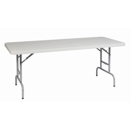 6' Height Adjustable Resin Multi-Purpose Table, Light -