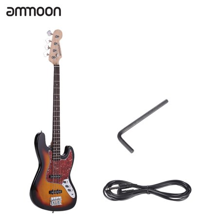 ammoon 47 solid wood 4 string jb electric bass guitar 21 frets with cable wrench. Black Bedroom Furniture Sets. Home Design Ideas