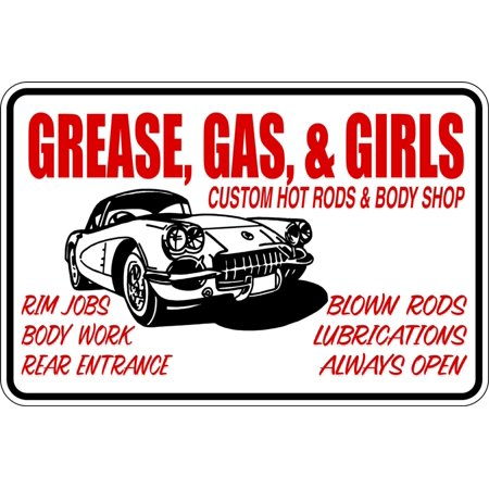 Top Selling Decals   Prices Reduced Grease Gas And Girls Kids Boys Bed Room   Sticker   Vinyl Wall   9 X15