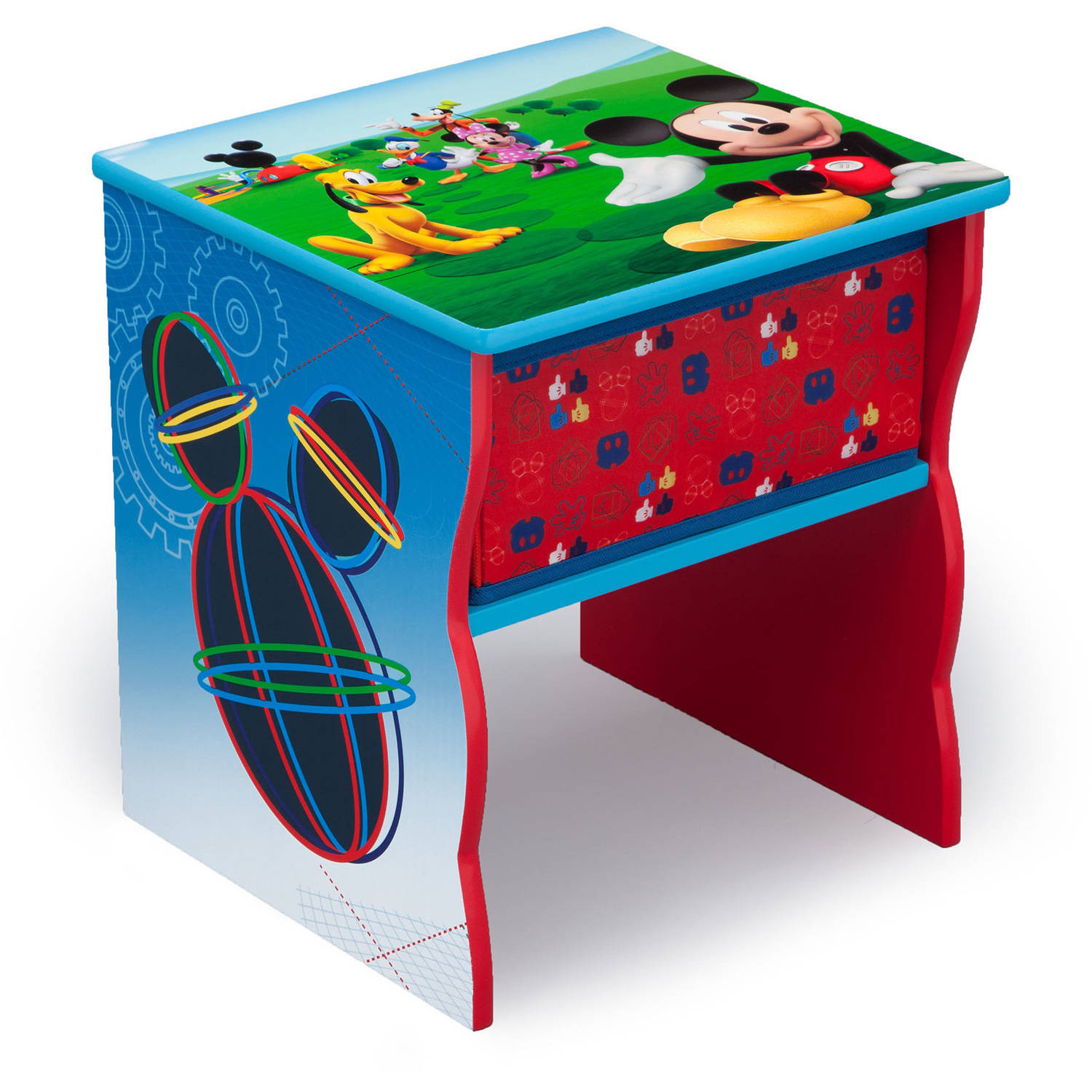 Disney Mickey Mouse Side Table with Storage
