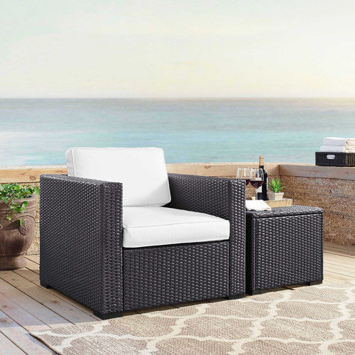 Crosley Furniture KO70130BR-WH Biscayne Resin Wicker Outd...