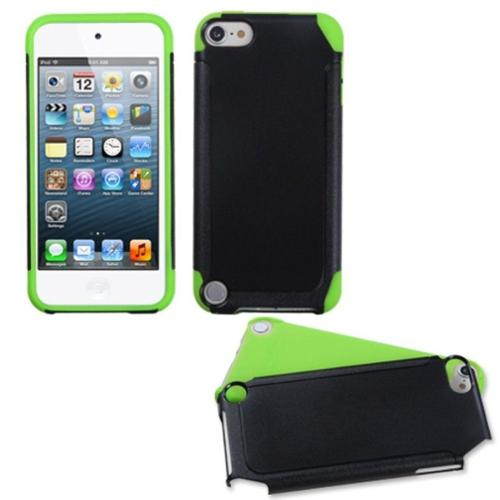 Insten Black/Green Frosted Fusion Case for iPod touch (5 5G 5th 6 6G 6th Gen)