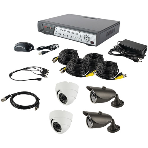 Ethereal SPY-DVRKIT1 DVR Kit with 2 Dome Cameras and 2 Bullet Cameras