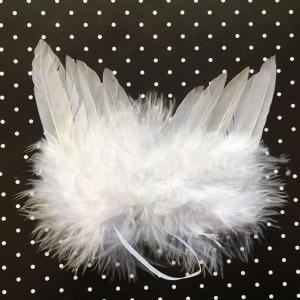 Fancyleo Fashion Wings(TM)White Feather Angel Wings&Halo for Newborn 0-6 Mo White Feather Angel Wings&Halo for Newborn 0-6 Mo](Halloween Angel Wings And Halo)