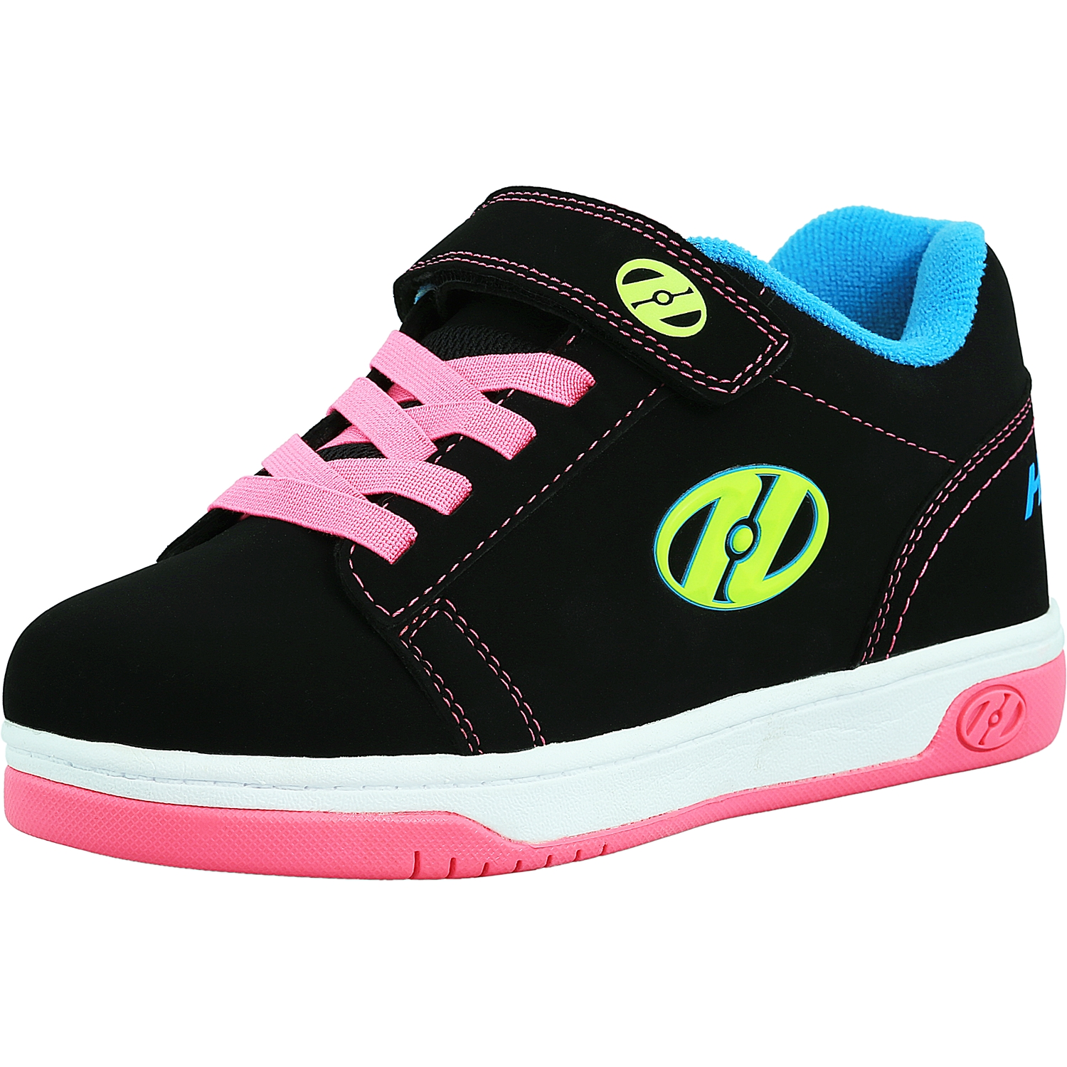 Heelys Dual Up X2 Black / Neon Multi Ankle-High Fashion Sneaker - 2M