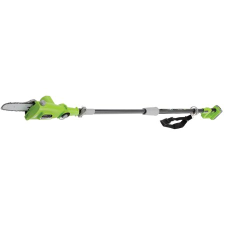 Earthwise LPS40208 8-Inch 20 Volt Lithium Ion Cordless Electric Pole Saw 9 Feet Extended Length (Battery and Charger Included)