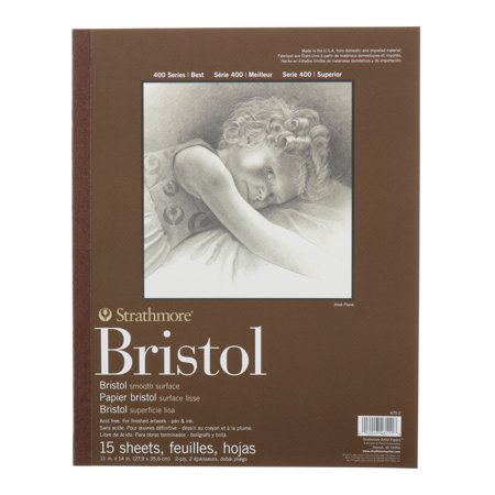 Strathmore Bristol Paper Pad, 400 Series, Smooth, 11