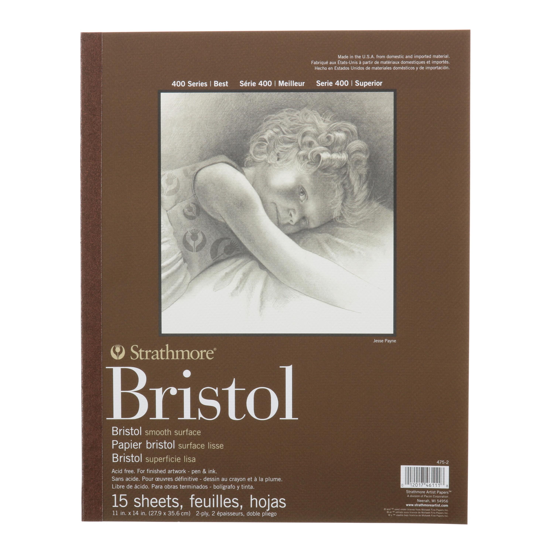 "Strathmore Bristol Paper Pad, 400 Series, Smooth, 11"" x 14"""""