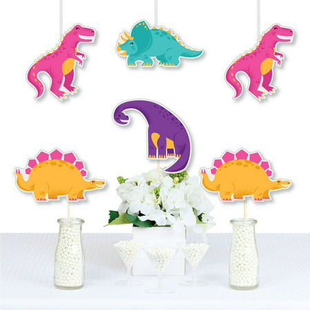 Roar Dinosaur Girl - T-Rex, Triceratops, Stegosaurus and Brontosaurus Decorations DIY Dino Mite Baby Shower or Birthday](Diy Dinosaur Tail)