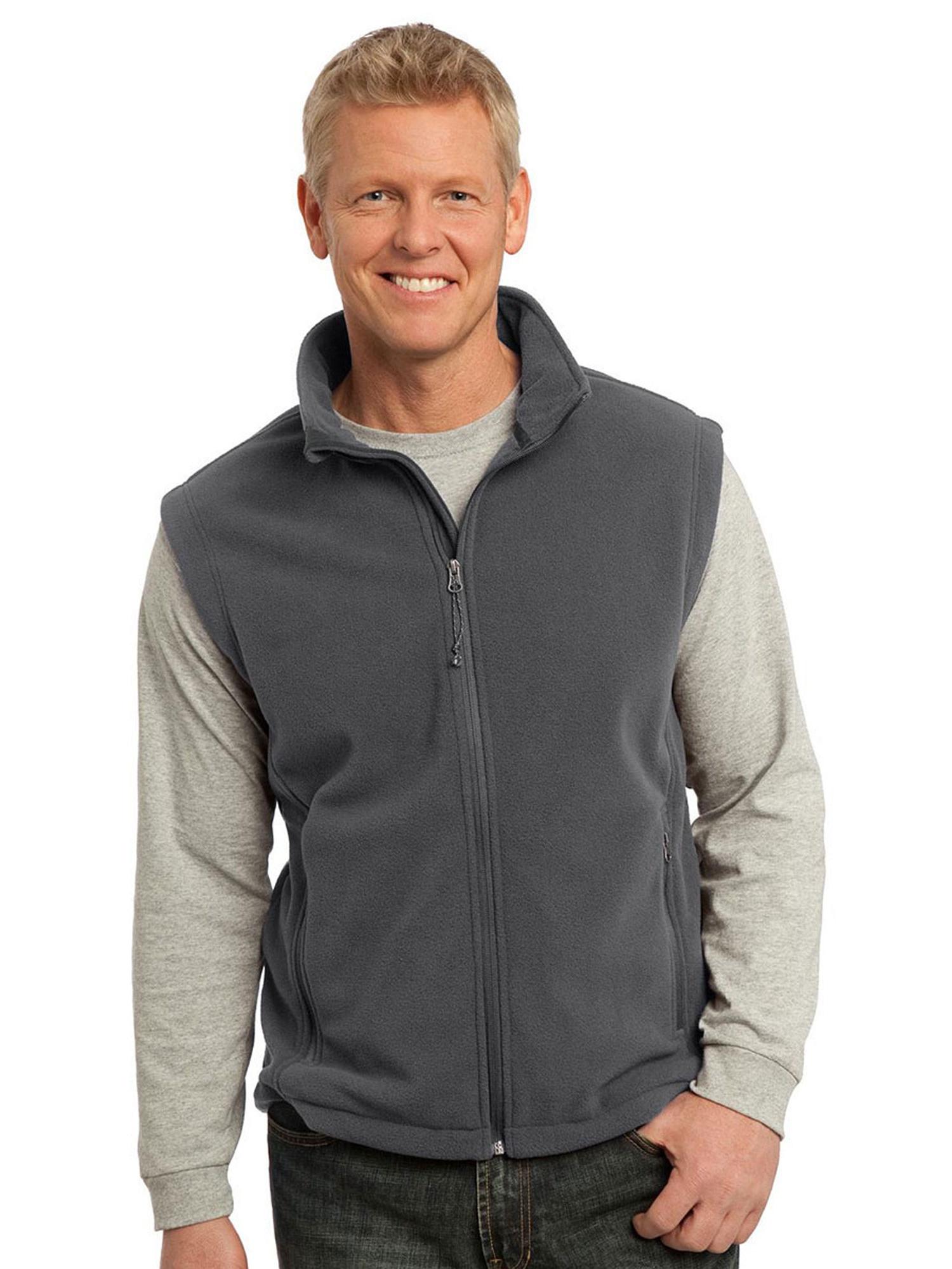 Port Authority Mens Super Soft Fleece Adjustable Vest