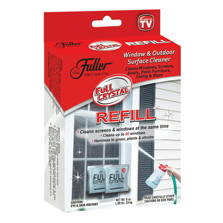 Full Crystal Refill Packets, Window and Outdoor Surface Cleaner by Fuller Brush, As Seen on