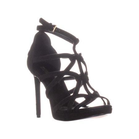 Womens MICHAEL Michael Kors Sandra Platform Strappy Stiletto Sandals, Black, 9.5 US / 39.5