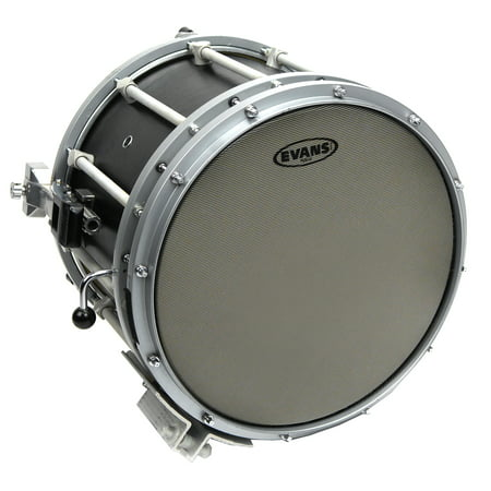 Evans Hybrid Grey Marching Snare Drum Head, 14 Inch ()