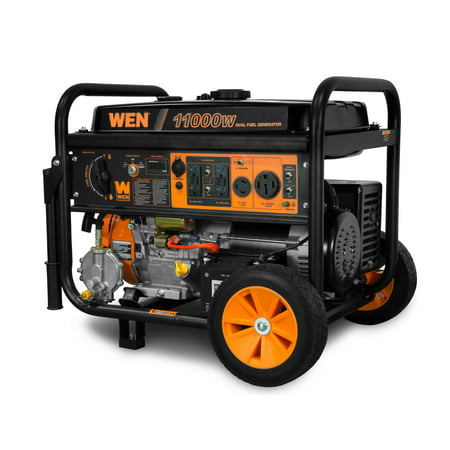 WEN 11,000-Watt 120V/240V Dual Fuel Portable Generator with Wheel Kit and Electric Start - CARB Compliant