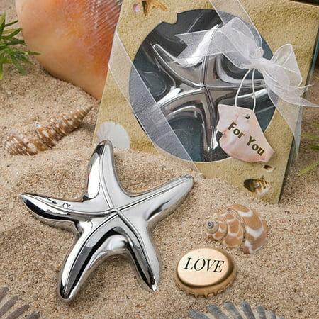 96 Starfish Design Bottle Opener Favors - Bottle Opener Wedding Favor