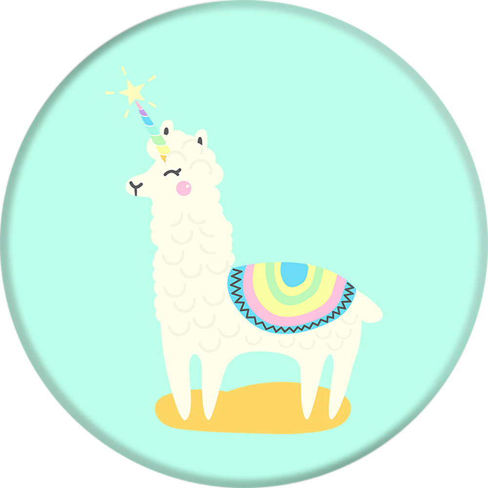 PopSockets Cell Phone Grip & Stand - Llamacorn