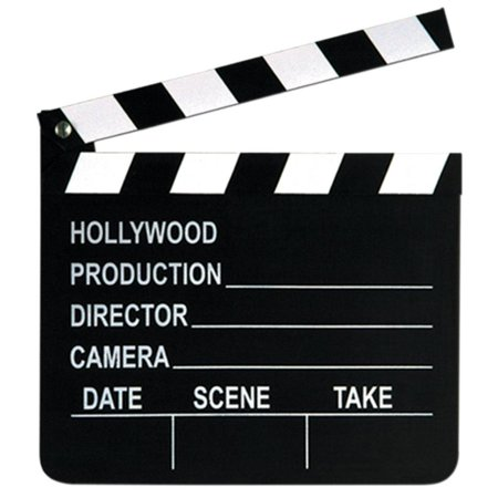 Hollywood Party Movie Set Clapboard (Qty of 12)