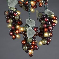 Tuscan Winery Red and Green Grape Cluster Patio or Christmas Lights