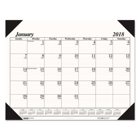 House of Doolittle Recycled Workstation-Size One-Color Monthly Desk Pad Calendar, 18 1/2 x 13, (A-glance Monthly Desk Calendar)