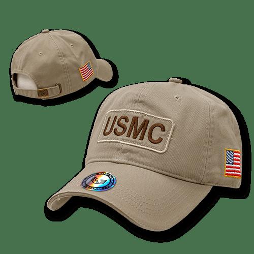 Rapid Dominance USMC Marines Military 2 Ply Cotton US Dual Flag Raid Dad Caps Hats