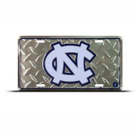 North Carolina Tar Heels Diamond Cut License Plate Tin Sign 6 x 12in Made in USA ()