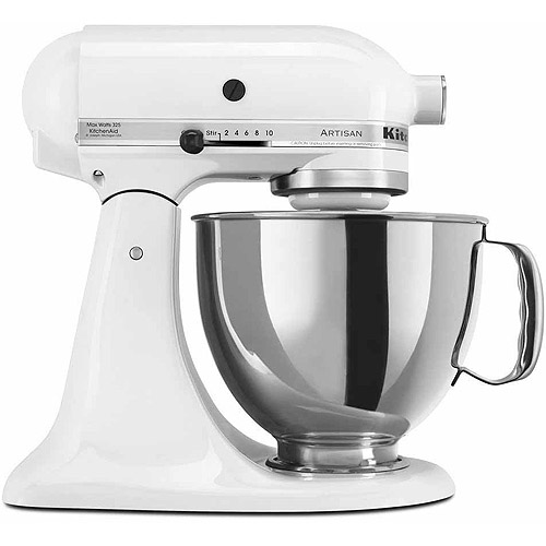 KitchenAid Artisan Series 5 Quart Tilt Head Stand Mixer, White (KSM150PSWH)