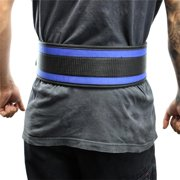 """Last Punch® 4"""" Nylon Power Weight Lifting Belt Back Support Belt Blue All Sizes"""