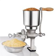COKO Manual Hand Cranking Grinder Mill for Corn Wheat Grain Grinder Cast Iron Multigrain Soybeans Shelled Nuts Commercial Home Use Silver