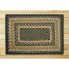 Earth Rugs Black/Mustard/Creme Braided Area Rug