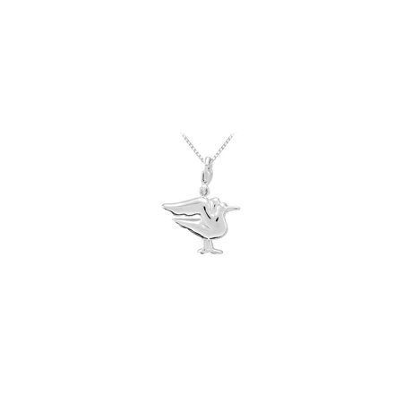 Sterling Silver Charming Animal Seagull Charm Pendant - image 2 de 2