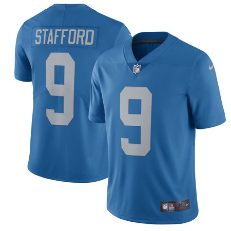 Men's Detroit Lions Matthew Stafford Nike Blue 2017 Throwback Vapor Untouchable Limited Player Jersey