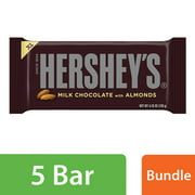 Hershey's Extra Large Milk Chocolate with Almonds Candy Bar, 4.25 Oz.