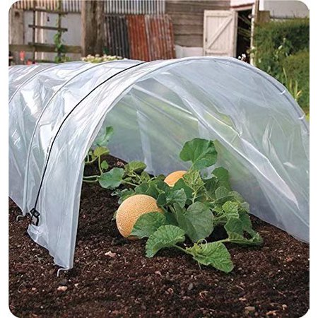 Agfabric 1.2Mil Plastic Covering Clear Polyethylene Greenhouse Film UV Resistant for Grow Tunnel and Garden Hoop, Plant Cover&Frost Blanket for Season Extension, 6x8ft