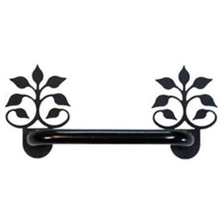 Wrought Iron Glass Doors (Village Wrought Iron DHP-B-109 Leaf Fan - Door Handle -)