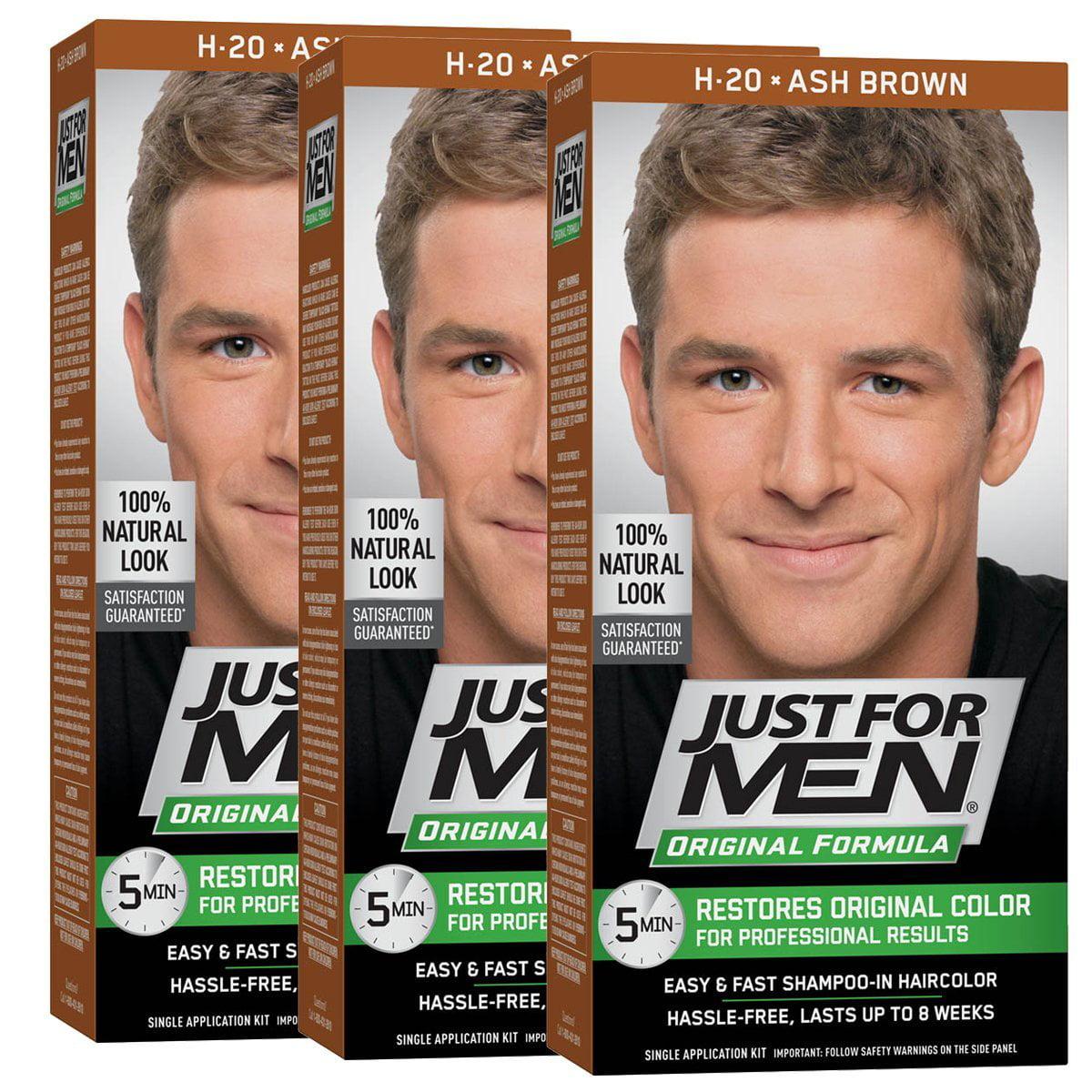 Just For Men Original Formula Men S Hair Color Ash Brown Pack Of 3 Walmart Com Walmart Com