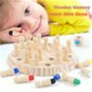 【LNCDIS】Wooden Memory Match Stick Game Kid Intelligence IQ Brain Teaser Game