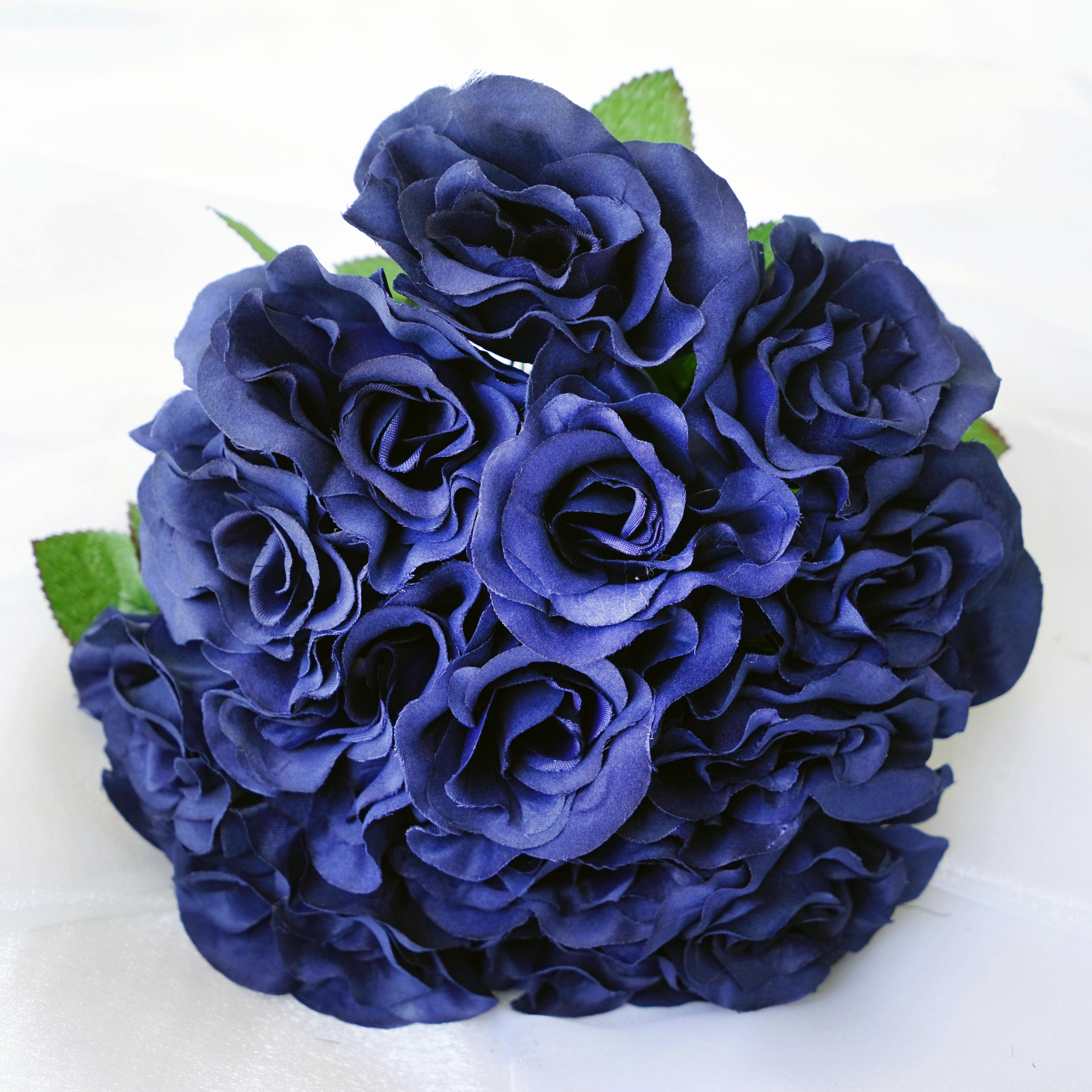 Balsacircle 4 Velvet Roses Bouquets Bridal Flowers Diy Home