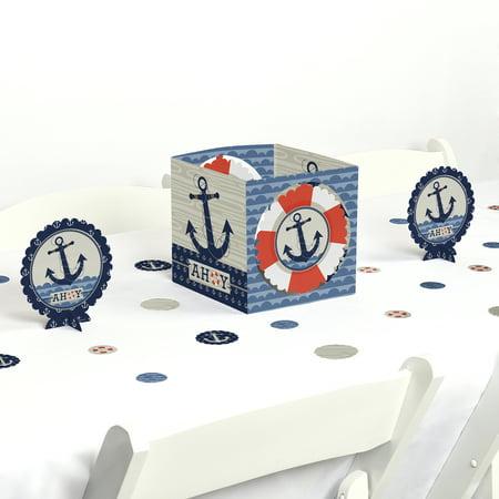 Ahoy Nautical - Party Centerpiece & Table Decoration Kit](Nautical Table Decoration Ideas)