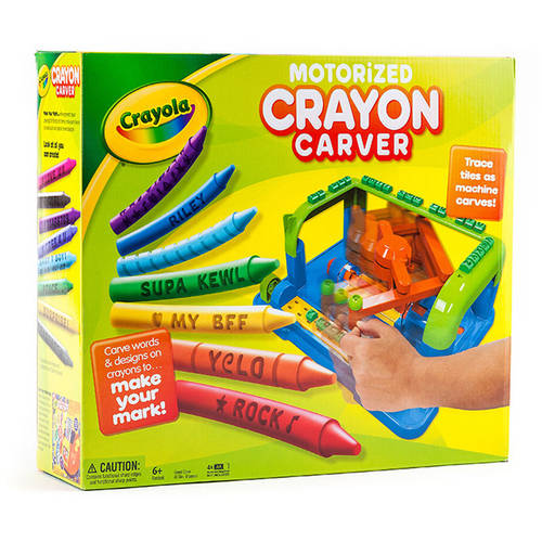 Crayola Crayon Carver with Tracing Tiles, 8 Crayons and Built-In Storage