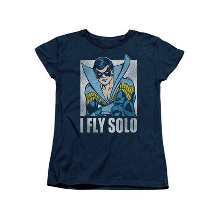 Nightwing Costume (Nightwing DC Comics Superhero Retro Disco Costume I Fly Solo Women's T-Shirt)