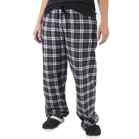 3d666020d2a8 Cozy Black White Flannel Plaid Pajama Pants Lounge Sleep Wear Cotton