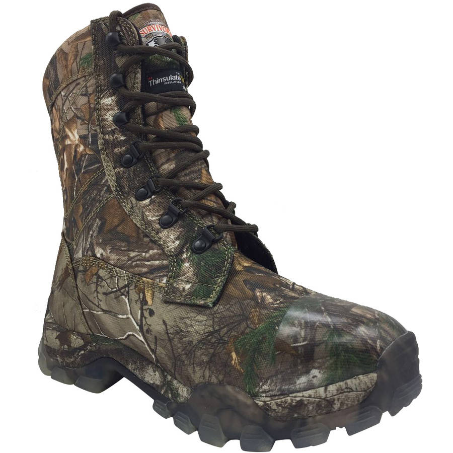 HERMAN SURVIVORS MEN/'S SIZE CAMO HUNTING BOOTS INSULATED WATERPROOF Realtree NEW