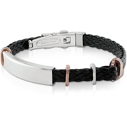 2-Tone Italian Stainless Steel Bracelet
