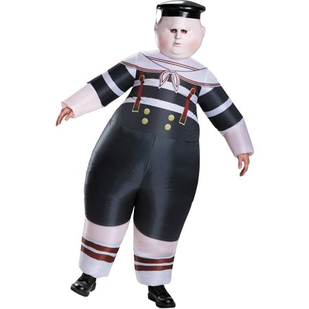 Halloween Costumes For Glasses Wearers (Alice Through the Looking Glass: Inflatable Tweedle Dee/Dum Men's Adult Halloween Costume, One)