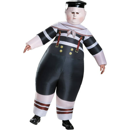 Alice Through the Looking Glass: Inflatable Tweedle Dee/Dum Men's Adult Halloween Costume, One Size - Tweedle Dee Tweedle Dum Halloween Costumes
