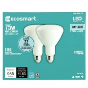 EcoSmart 75-Watt Equivalent BR30 Dimmable Energy Star LED Light Bulb Daylight (2-Pack)